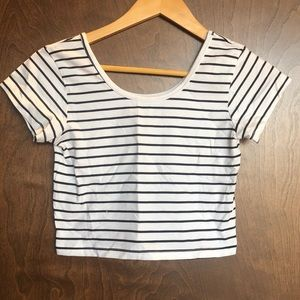 Striped crop top size small